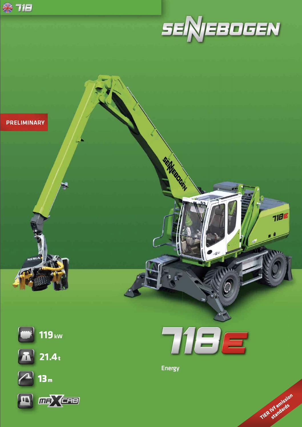 SENNEBOGEN-718E-Spec-Sheet